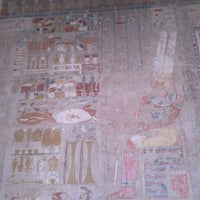Photo taken at Mortuary Temple of Hatshepsut by Hadeer M. on 4/6/2012