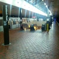 Photo taken at Braddock Road Metro Station by Matthew S. on 9/9/2012