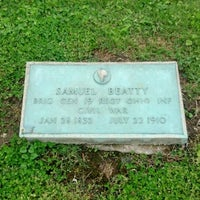 Photo taken at Samuel Beatty grave by Travis S. on 4/28/2012
