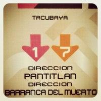 Photo taken at Metro Tacubaya by Norb C. on 3/22/2012