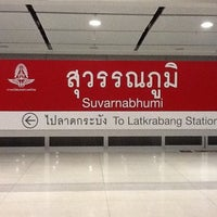 Photo taken at ARL Suvarnabhumi (A1) by ToTo C. on 4/17/2012