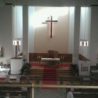 Photo taken at Leopoldskirche by Elisabeth F. on 5/1/2012