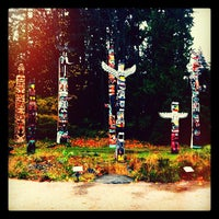 Photo taken at Totem Poles in Stanley Park by Gianluca C. on 11/16/2011