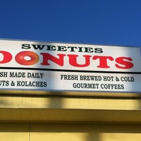 Photo taken at Sweeties Donuts by Valerie P. on 10/22/2011