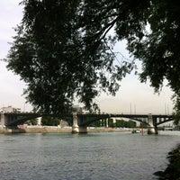 Photo taken at Pont de Levallois by Lewis on 8/8/2012