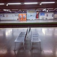 Photo taken at Metro Moncloa by Ubago N. on 8/15/2012