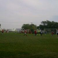 Photo taken at Mount Pleasant Soccer Field by J Ryan W. on 8/21/2012