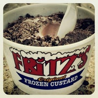 Photo taken at Fritz's Frozen Custard by kat a. on 8/9/2012