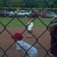 Photo taken at Center Street Ball Park by Stephanie G. on 6/28/2012