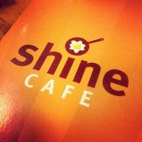 Photo taken at Shine Cafe by Jordan M. on 9/8/2012