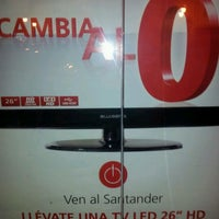 Photo taken at Banco Santander by Luiggi D. on 4/11/2012