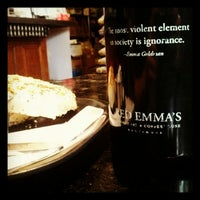 Photo taken at Red Emma's Bookstore Coffeehouse by Meghan L. on 4/28/2012