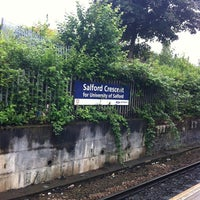 Photo taken at Salford Crescent Railway Station (SLD) by Scott B. on 7/19/2011