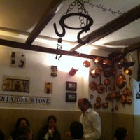 Photo taken at Osteria del Rione by Paola F. on 10/8/2011