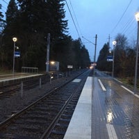 Photo taken at TriMet NW Civic Drive MAX Station by Paul A. on 3/15/2012