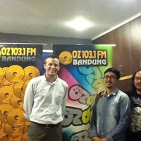 Photo taken at OZ Radio Bandung 103,1 FM by U.S. Embassy J. on 9/30/2011