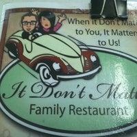 Photo taken at It Don't Matter Family Restaurant by Scott H. on 11/8/2011