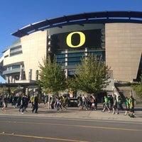 Photo taken at Autzen Stadium by Amber S. on 9/2/2012