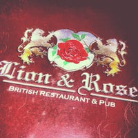 Photo taken at The Lion & Rose British Restaurant & Pub by Diego E. on 4/7/2012