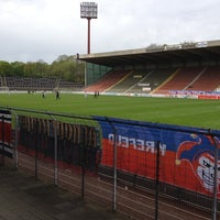 Photo taken at Grotenburg-Stadion by Christoph P. on 4/28/2012