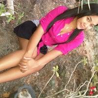 Photo taken at Monumen Tiga Pena by Lia O. on 8/27/2012