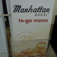 Photo taken at Manhattan Bagel by Nehemiah B. on 12/12/2011