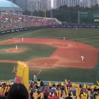 Photo taken at Mokdong Baseball Stadium by Christina J. on 8/20/2011