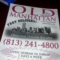 Photo taken at Old Manhattan Pizza by Barak R. on 10/26/2011