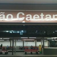 Photo taken at Estação São Caetano do Sul (CPTM) by Keila S. on 1/7/2012