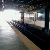 Photo taken at Yellow Line - Araneta Center-Cubao Station by Tj A. on 1/16/2012