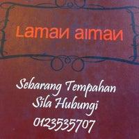 Photo taken at Restoran Laman Aiman by firdaus e. on 5/27/2012