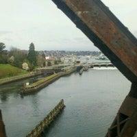Photo taken at Salmon Bay Bridge by Wine T. on 4/13/2011