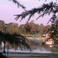 Photo taken at Byrd Park Boat (Fountain) Lake by Jason B. on 10/8/2011