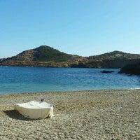 Photo taken at Sa Tuna Beach by Francina L. on 1/22/2012