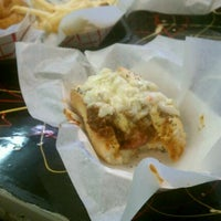 Photo taken at Mike's Chicago Hot Dogs by Erika C. on 3/26/2012