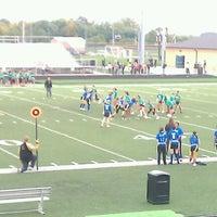 Photo taken at Avon High School Oriole Stadium by Jamison C. on 9/28/2011