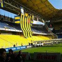 Photo taken at Ülker Stadyumu Fenerbahçe Şükrü Saracoğlu Spor Kompleksi by Serkan A. on 1/15/2012