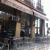 Photo taken at Cafetería Lisboa by Gaby P. on 1/7/2012