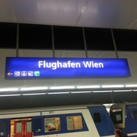 Photo taken at Vienna Airport Station by Martin O. on 9/1/2012