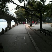 Photo taken at Shamian Park by William K. on 1/25/2012