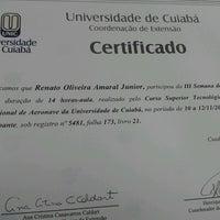 Photo taken at Universidade de Cuiabá (UNIC) by Renato A. on 8/9/2012