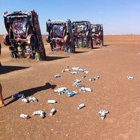 Photo taken at Cadillac Ranch by Sean J. on 8/16/2011