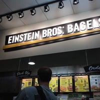 Photo taken at Einstein Bros Bagels by Heather M. on 4/18/2012