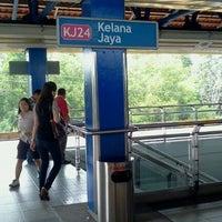 Photo taken at RapidKL Kelana Jaya (KJ24) LRT Station by Andrew H. on 12/4/2011
