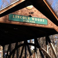 Photo taken at Lincoln Woods State Park by Jayne T. on 12/30/2011