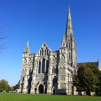 Photo taken at Salisbury Cathedral by Eleanor D. on 10/3/2011