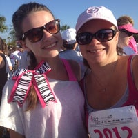 Photo taken at Susan G Komen Race For The Cure by Kelly A. on 3/10/2012