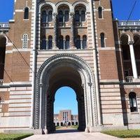 Photo taken at Rice University by Jaclyn B. on 4/7/2012