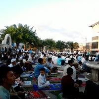 Photo taken at Masjid Agung Syi'arul Islam by Tofan S. on 8/18/2012