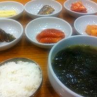 Photo taken at 삼정한식 by Yoojin K. on 8/11/2012
